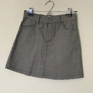 NWOT Gingham Mini Skirt From Brandy Melville